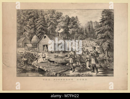The pioneer's home- on the western frontier LCCN2001700590 - Stock Photo