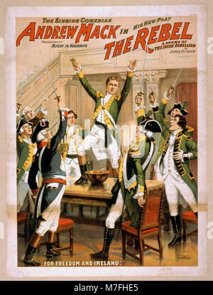 The singing comedian, Andrew Mack in his new play, The rebel a drama of the Irish rebellion - by James B. Fagen. - Stock Photo