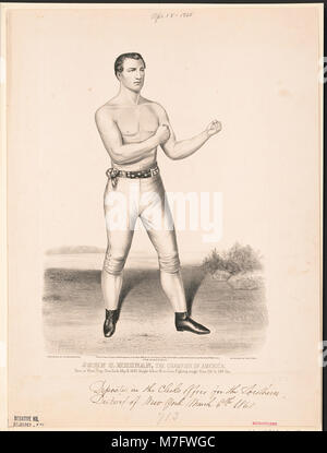John C. Heenan, the champion of America- (the benicia boy) LCCN2002707678 - Stock Photo