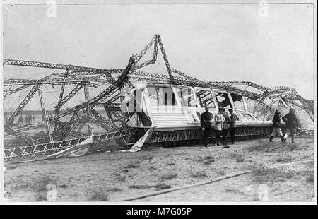 Wreck of German Naval airship L.2, Oct. 17, 1913 LCCN2002722158 - Stock Photo