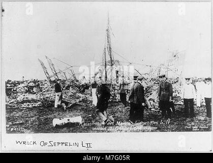 Wreck of German Naval airship L.2, Oct. 17, 1913 LCCN2002722159 - Stock Photo
