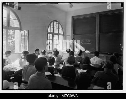 Zionist activities in Palestine. The Hebrew University. Class in mathematics. Einstein Institute. LOC matpc.02660 - Stock Photo
