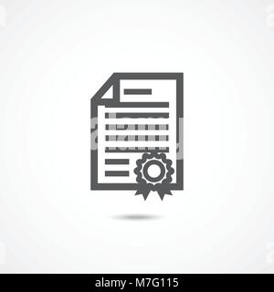 Diploma icon on white - Stock Photo