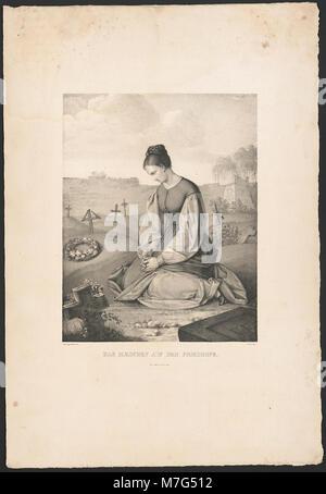 Das Mædchen auf dem Friedhofe (sic) - Gustav Dittenberger pinx. ; J. Oeri delt. LCCN2015647815 - Stock Photo