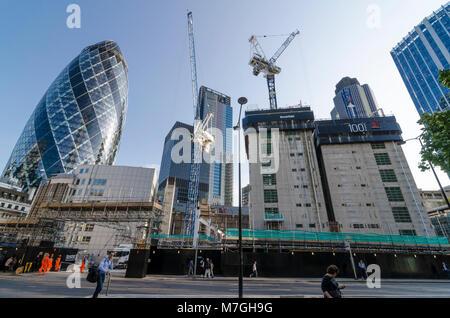 City of London skyscraper construction and development - Stock Photo
