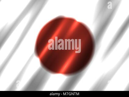 Japan national flag background - Stock Photo