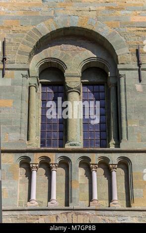 Window of the St. Patrokli Dom in Soest, Germany - Stock Photo