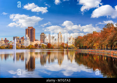 New York, New York at central park in autumn season. - Stock Photo