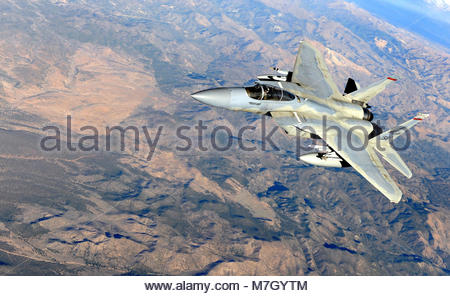 McDonnell Douglas F-15C-22-MC Eagle (sn 78-518) during Red Flag 10-1. NEVADA TEST AND TRAINING RANGE, Nev. -- A - Stock Photo