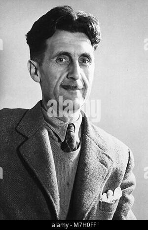 GEORGE ORWELL (1903-1950) English novelist about 1944 - Stock Photo