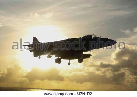 McDonnell Douglas (now Boeing) AV-8B Harrier. OCEAN (July 16, 2017) An AV-8B Harrier assigned to Marine Tiltrotor - Stock Photo
