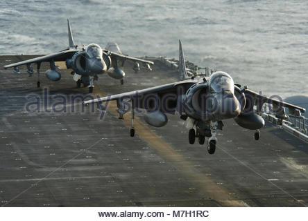 McDonnell Douglas (now Boeing) AV-8B Harrier. PACIFIC OCEAN (July 16, 2017) An AV-8B Harrier assigned to Marine - Stock Photo