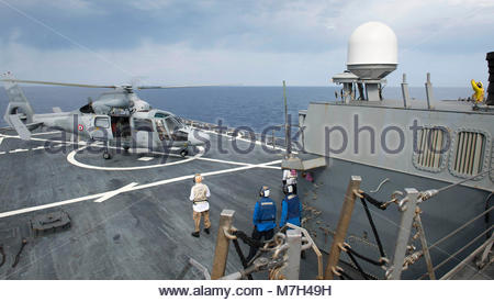 French navy Eurocopter (now Airbus Helicopters) Panther. MEDITERRANEAN SEA (May 18, 2017) A French navy Panther - Stock Photo