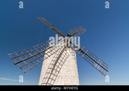 Old windmill in Toledo region of La Mancha - Stock Photo