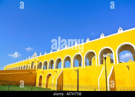 San Antonio de Padua convent in Izamal, Yucatan, Mexico - Stock Photo
