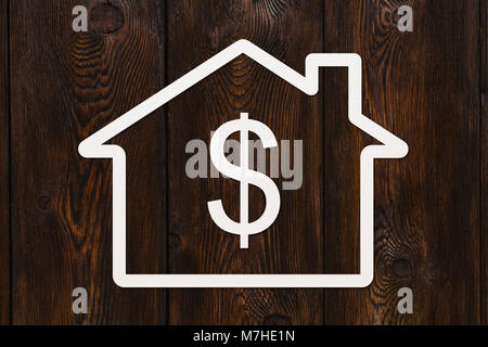House Symbol With Dollar Sign Inside Stock Photo 35998001 Alamy
