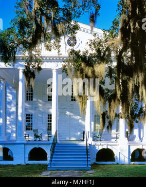 Antebellum Mansion, Hampton Plantation, Francis Marion National Forest, South Carolina - Stock Photo