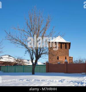 KOLOMNA, RUSSIA - 10 March 2018 water tower in the Old Town in Kolomna - Stock Photo