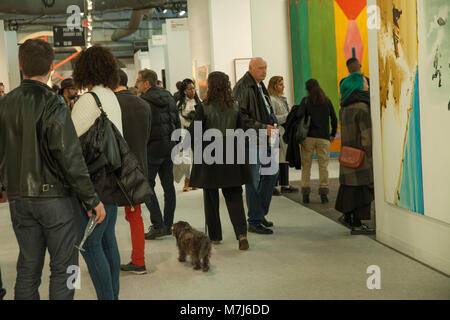 New York, USA. 10th March, 2018. Visitors attend Armory Show at Piers 92 & 94 Credit: lev radin/Alamy Live News - Stock Photo