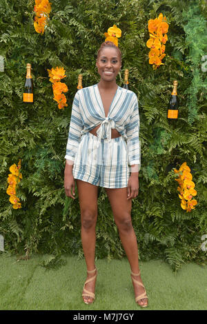 Miami, FL, USA. 10th Mar, 2018. Issa Rae attends the 4th Annual Veuve Clicquot Carnaval at Museum Park on March - Stock Photo