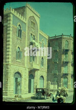 Newer Jerusalem and suburbs. Jaffa Road. Apartment houses built by Arabs LOC matpc.23216 - Stock Photo
