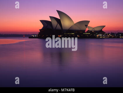 Mood shot of the Sydney Opera House, New South Wales, Australia - Stock Photo