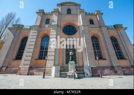 Storkyrkan or the church of St. Nicholas in the Old Town of Stockholm, Sweden. - Stock Photo