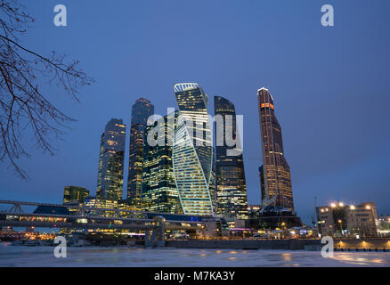 Moscow-city, Russia. Moscow International Business Center - Stock Photo
