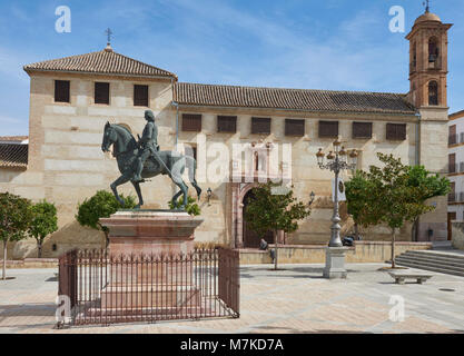The Square in front of the Palace of Najera, which is now the Municipal Museum of Antequera, in Andalucia, Spain. - Stock Photo