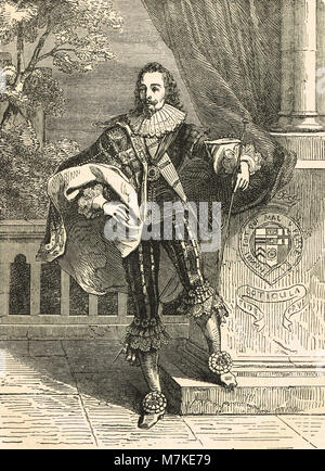 King Charles I of England, 1600 –1649, reigned 1625-1649 - Stock Photo