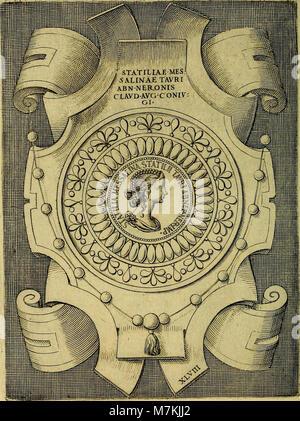 Avgvstarvm imagines aereis formis expressae - vitae quoque carundem breuiter enarratae, signorum etiam, quae in - Stock Photo
