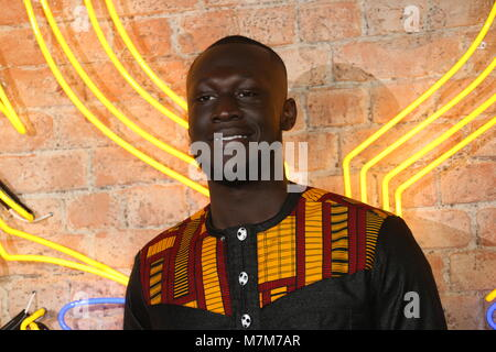 'Black Panther' European Premiere - Arrivals  Featuring: Stormzy Where: London, United Kingdom When: 08 Feb 2018 - Stock Photo