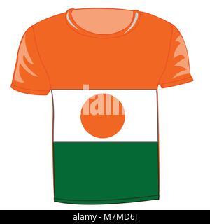 T-shirt flag Niger - Stock Photo