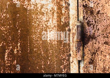 rusty metal texture background, old metal hinge - Stock Photo
