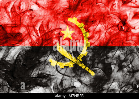 Angola smoke flag - Stock Photo