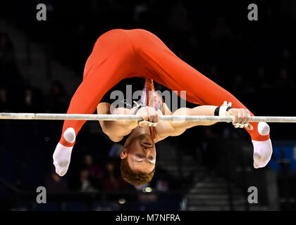 Echo Arena, Liverpool, UK. 11th Mar, 2018. 2018 Gymnastics British Championships at Echo Arena on Sunday, 11 March - Stock Photo