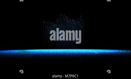 Internet technology communication, binary code programming, network connection - Stock Photo