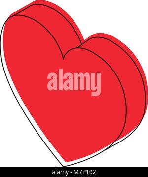 heart love isometric icon - Stock Photo