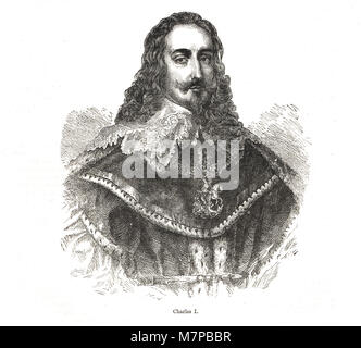King Charles I of England, (1600-1649) reigned 1625-1649 - Stock Photo
