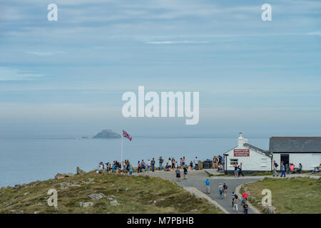 The First and Last Refreshment House, Land's End, Cornwall - Stock Photo