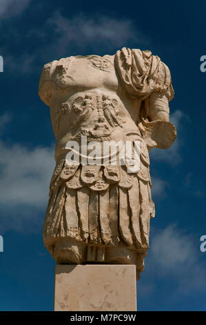 Torreparedones, iberian-roman archaeological park, statue in the forum-1st century, Baena, Cordoba province, region - Stock Photo