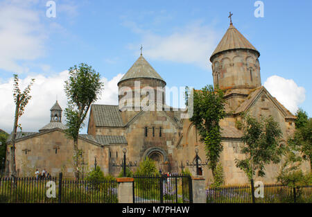 Old medieval church against blue sky background - Stock Photo