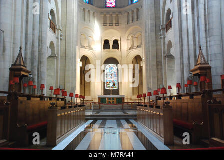 Interior of St. Anne's Cathedral, Belfast, Northern İreland, UK - Stock Photo