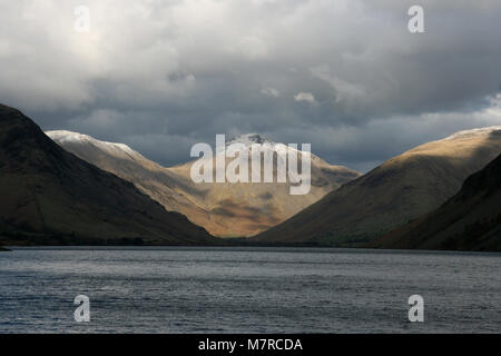 Great Gable & Wast Water, Wasdale, The Lake District National Park, England - Stock Photo