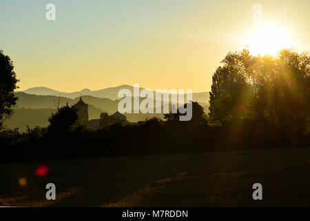 Sunshine over the mountains. - Stock Photo
