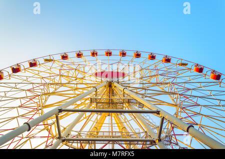 MINSK, BELARUS - AUGUST 16, 2017: Minsk ferris wheel in central city park - Stock Photo