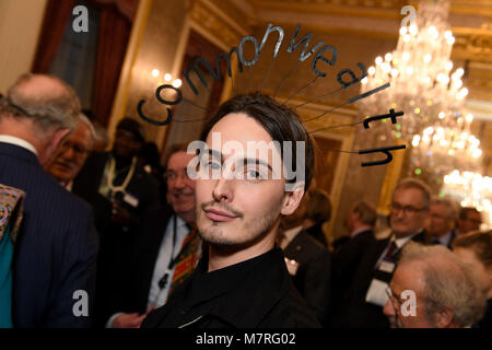 Daniel Hatton of the Commonwealth Fashion Council at a reception held at Marlborough House, the home of the Commonwealth - Stock Photo