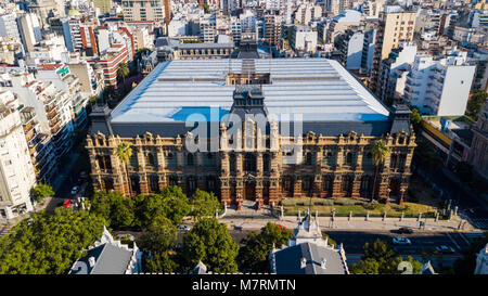 Water Company Palace Palacio de Aguas Corrientes, Buenos Aires, Argentina - Stock Photo