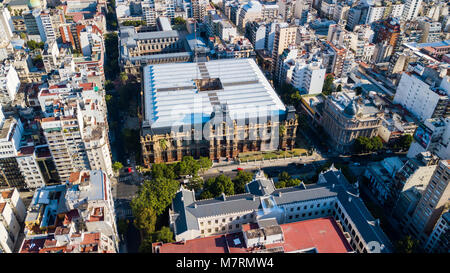 Water Company Palace Palacio de Aguas Corrientes, Buenos Aires, Argentina - Stock Photo