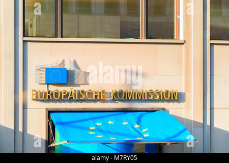 Berlin, Germany - December 13, 2017: European Commission office building in Berlin, Germany - Stock Photo